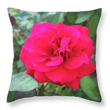 Throw Pillow featuring the painting Floral Print 107 by Chris Flees