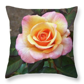 Throw Pillow featuring the painting Floral Print 108 by Chris Flees