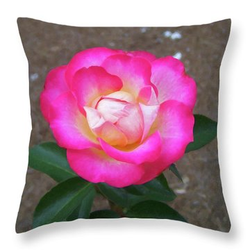 Throw Pillow featuring the painting Floral Print 109 by Chris Flees