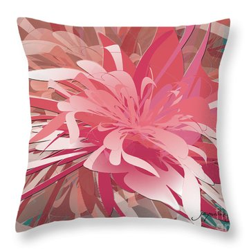 Floral Profusion Throw Pillow