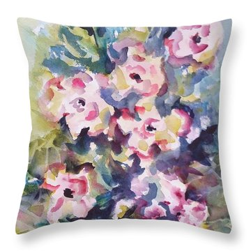 Floral Rhythm Throw Pillow