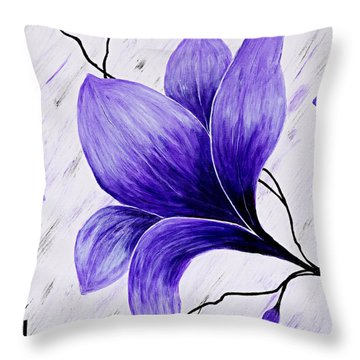 Floral Slumber Throw Pillow