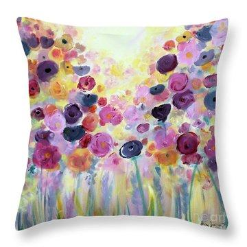 Floral Splendor IIi Throw Pillow