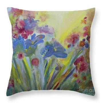 Floral Splendor Throw Pillow