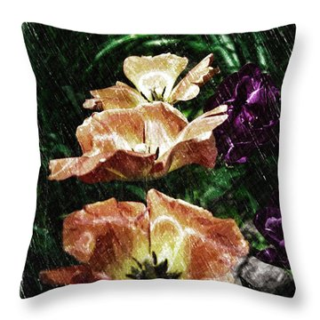 Floral Spring Tulips 2017 Pa 01 Vertical Throw Pillow