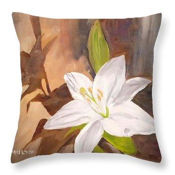 Floral-still Life Throw Pillow