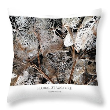 Floral Structure Throw Pillow