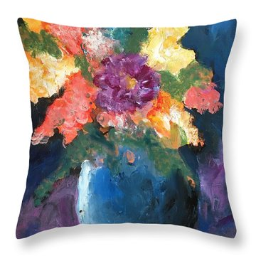 Floral Study 1 Throw Pillow