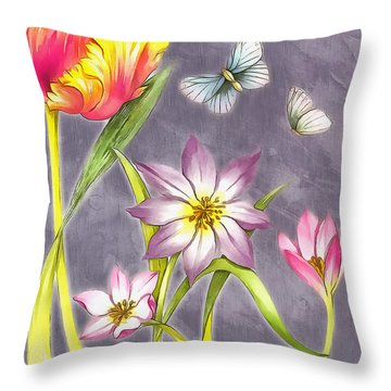 Floral Supreme Throw Pillow by Mario Carini