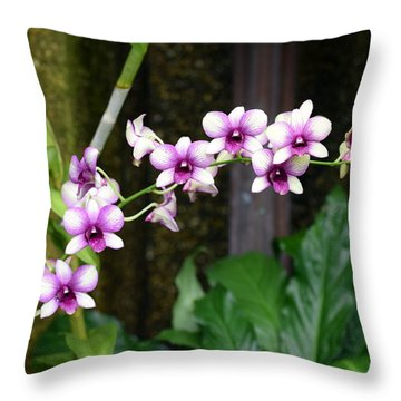Floral Sway Throw Pillow by Deborah  Crew-Johnson