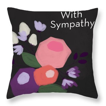 Floral Sympathy Card- Art By Linda Woods Throw Pillow