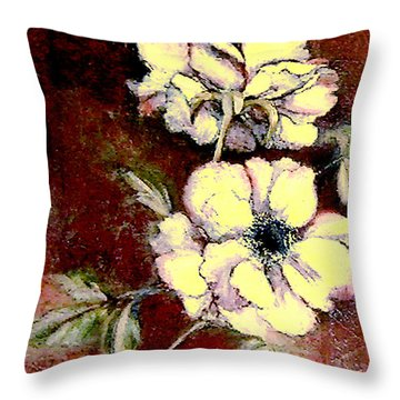 Floral Watercolor Painting Throw Pillow