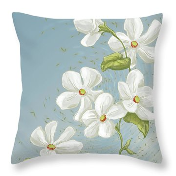 Floral Whorl Throw Pillow