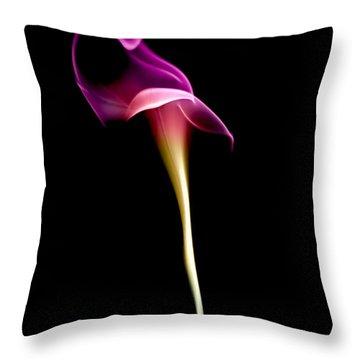 Floral Wisp Throw Pillow