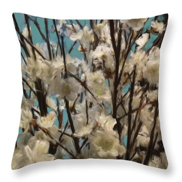 Floral02 Throw Pillow