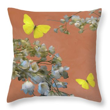 Floral06 Throw Pillow