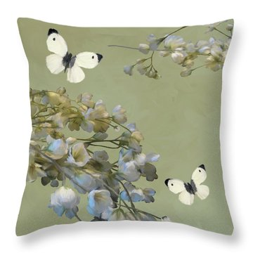 Floral07 Throw Pillow