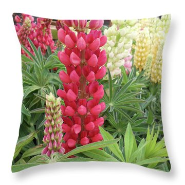 Floral2 Throw Pillow by Cynthia Powell