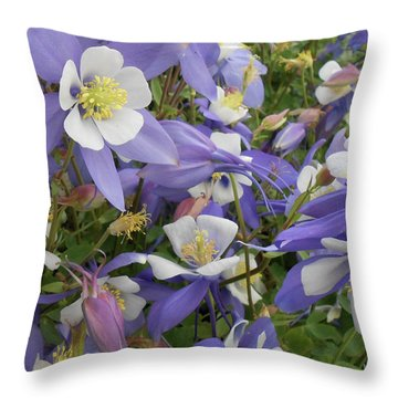 Floral3 Throw Pillow by Cynthia Powell