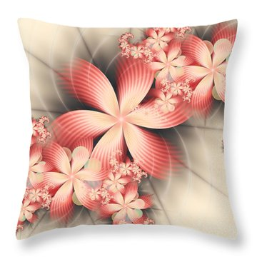 Floralina Throw Pillow by Michelle H