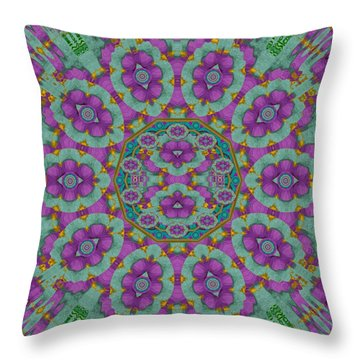 Florals Of Paradise Throw Pillow