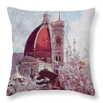 Florence - 16 Throw Pillow