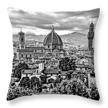 Florence 2 Bw Throw Pillow