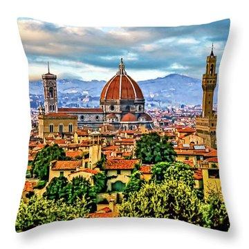 Florence 2 Throw Pillow