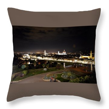 Florence At Night Throw Pillow