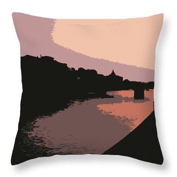 Florence At Night Throw Pillow