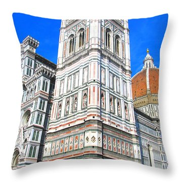Florence Duomo Cathedral Throw Pillow