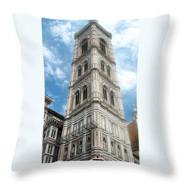 Florence Duomo Tower Throw Pillow