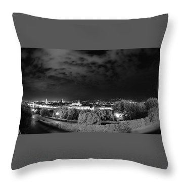 Florence From Above Throw Pillow