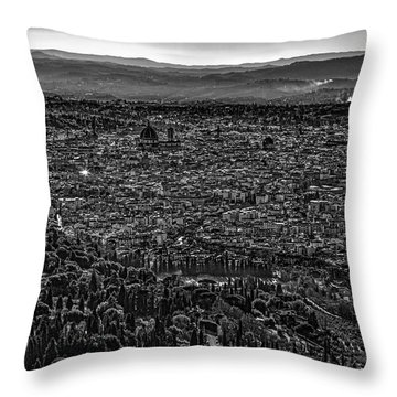 Florence From Fiesole Throw Pillow by Sonny Marcyan