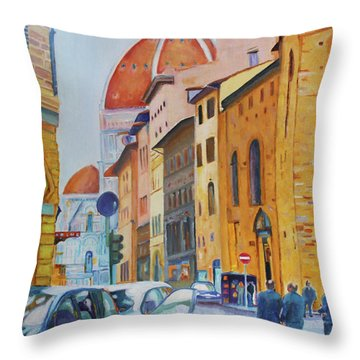 Florence Going To The Duomo Throw Pillow
