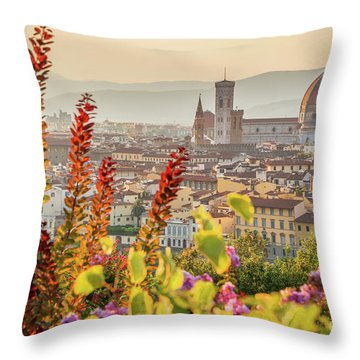 Florence In Summer Throw Pillow