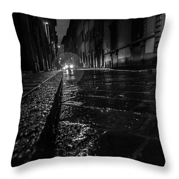 Florence Nights Throw Pillow by Sonny Marcyan