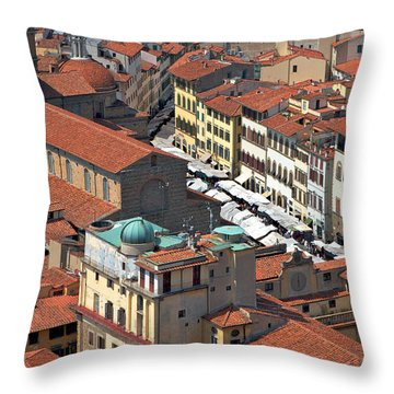 Florence Rooftops Throw Pillow