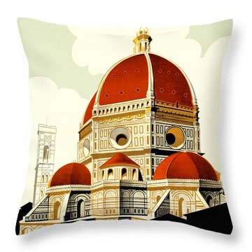 Florence Travel Poster Throw Pillow