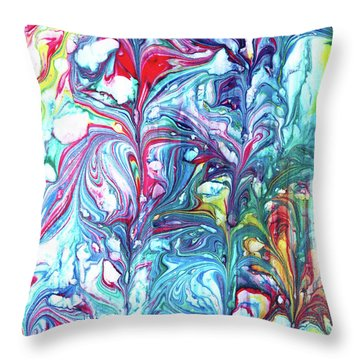 Florescence Throw Pillow by Tom Druin