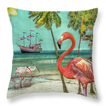 Throw Pillow featuring the photograph Florida Advertisement by Hanny Heim
