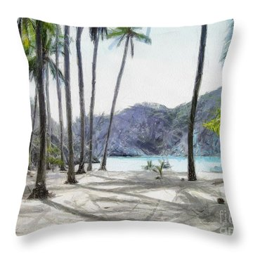 Florida Beach Throw Pillow by Murphy Elliott