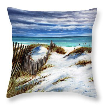 Florida Beach Throw Pillow by Rick McKinney