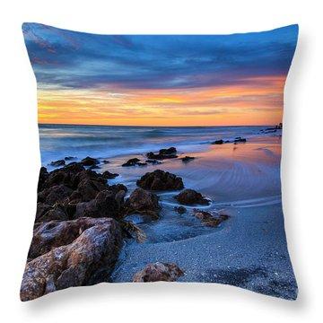 Florida Beach Sunset 3 Throw Pillow