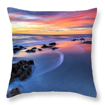 Florida Beach Sunset 4 Throw Pillow