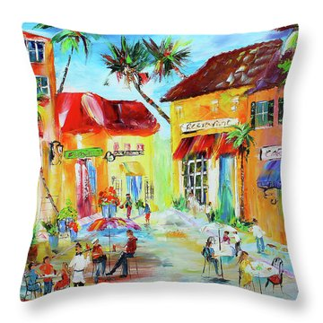 Florida Cafe Throw Pillow