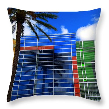 Florida Colors Throw Pillow by Susanne Van Hulst