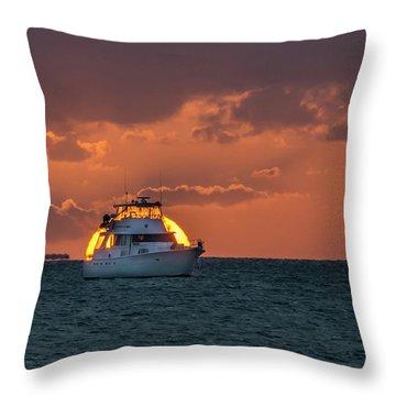 Florida Eclipse Throw Pillow