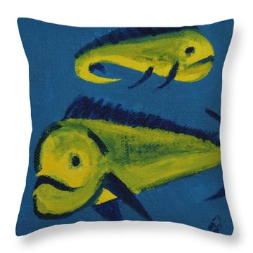 Florida Fish Throw Pillow by Annette M Stevenson