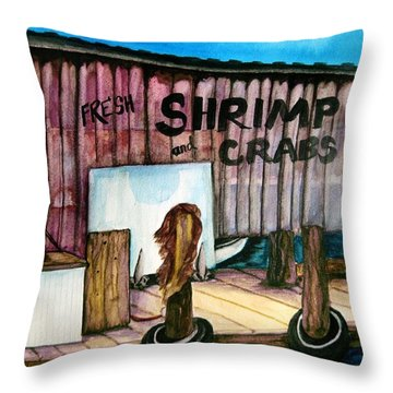 Throw Pillow featuring the painting Florida Fresh by Lil Taylor